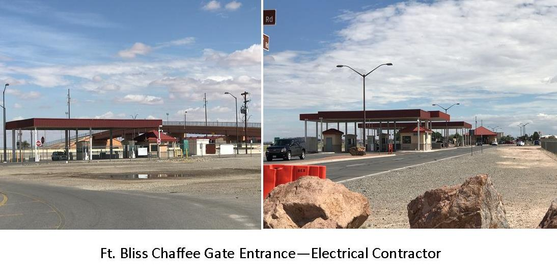 Ft. Bliss Chaffee Gate Entrance - Electrical Contractor